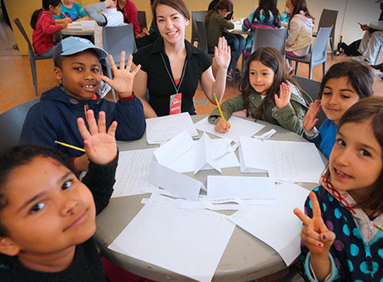 young authors writing in a write it workshop