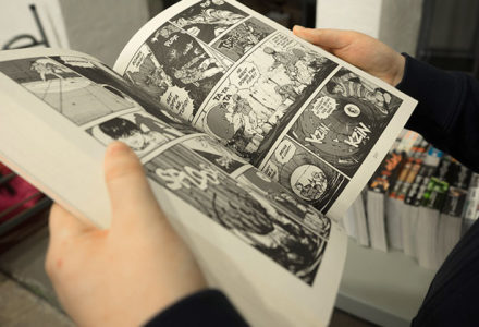 image of an open manga book for Anime Comes with Art and a Story