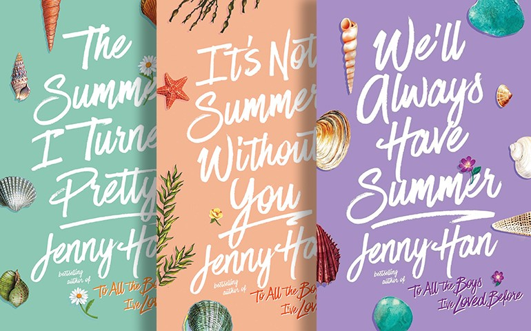 All three covers of the Summer Series by Jenny Han appear on top of each other.